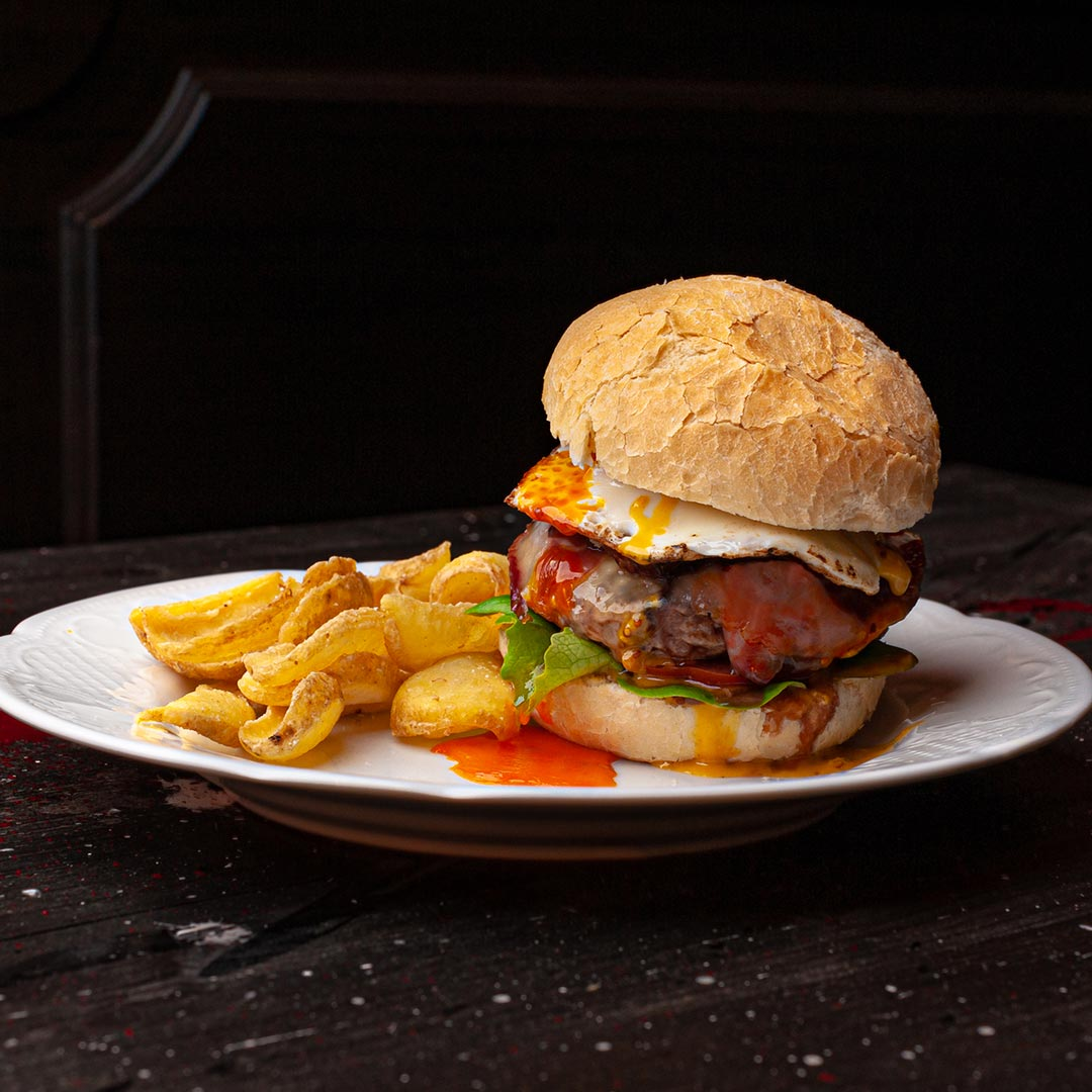 Ristorante Bove's alba hamburger